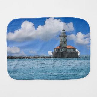 Chicago-Hafen-Leuchtturm Painterly Spucktuch