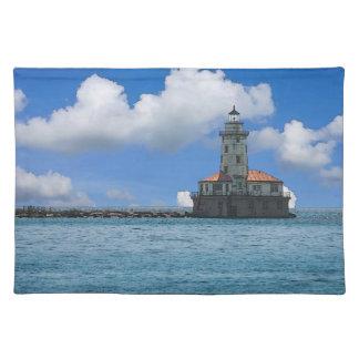 Chicago-Hafen-Leuchtturm Painterly Tischset