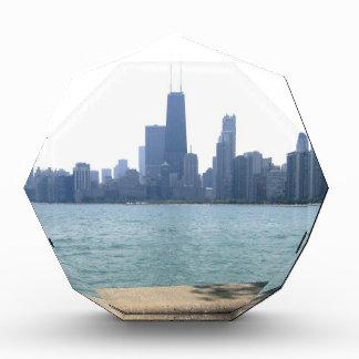Chicago herüber vom Strand Acryl Auszeichnung