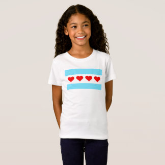 Chicago-Herz-Flaggen-KinderT - Shirt