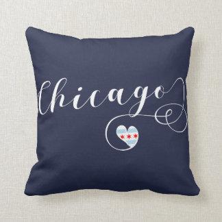 Chicago-Herz-Wurfs-Kissen, Illinois Kissen