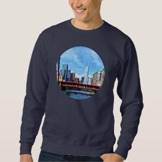 Chicago IL - See-Ufer-Antriebs-Brücke Sweatshirt