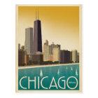 Chicago, IL - Skyline Postkarte