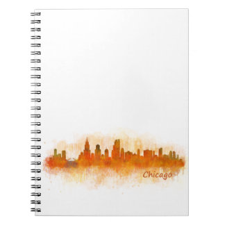 chicago Illinois City Skyline v03 Notizblock