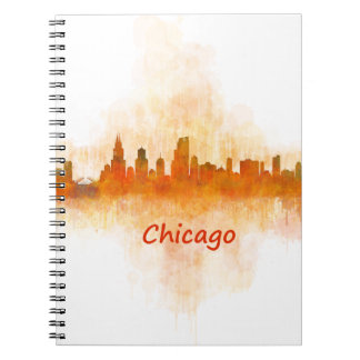 chicago Illinois Cityscape Skyline Dark Notizblock