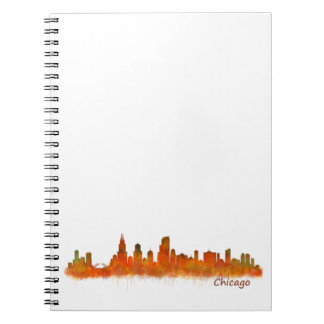 chicago Illinois Cityscape Skyline Spiral Notizblock