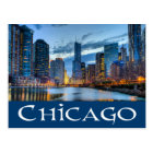Chicago Illinois Skyline USA - Chicago am Postkarte