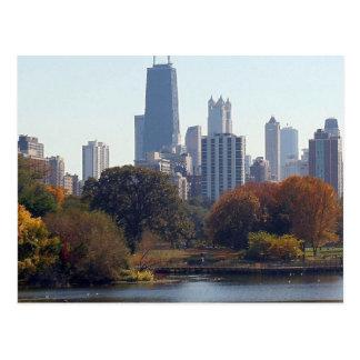 Chicago im Fall Postkarte