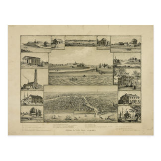 Chicago in Anfang 1779-1857 Postkarte
