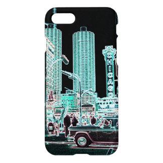 Chicago-Jachthafen-Stadt-Staats-Straßen-Neon 1963 iPhone 8/7 Hülle