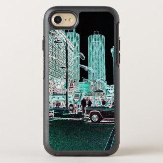 Chicago-Jachthafen-Stadt-Staats-Straßen-Neon 1963 OtterBox Symmetry iPhone 8/7 Hülle