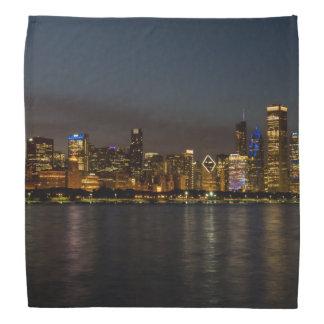 Chicago-NachtStadtbild Kopftuch