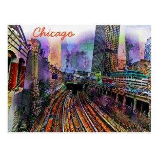 Chicago-Postkarte Postkarte