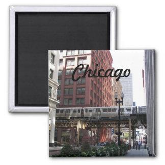 Chicago-Reise-Foto Quadratischer Magnet