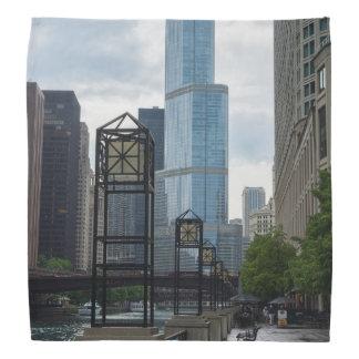 Chicago River Weg Kopftuch