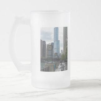 Chicago River Weg Mattglas Bierglas