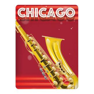 Chicago-Saxophonreise-Plakatdruck Karte