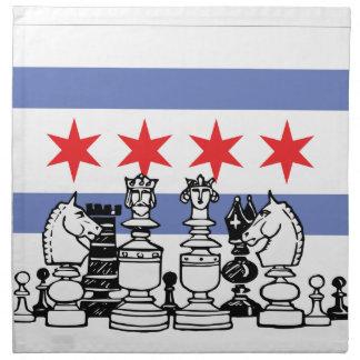 Chicago-Schach Serviette