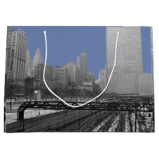 Chicago-Schienen-Yard-Schleifen-Eisenbahnsechziger Große Geschenktüte
