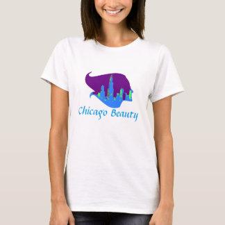 Chicago-Schönheit in Lila, in Blauem und Grün T-Shirt