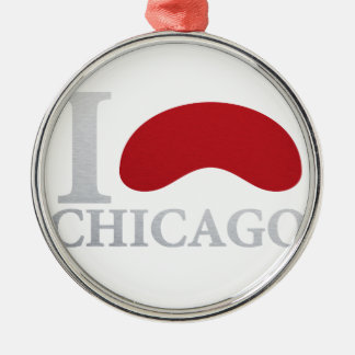 CHICAGO sehen Silbernes Ornament