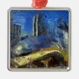 Chicago Silbernes Ornament