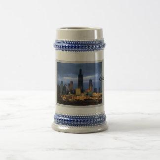 Chicago-Skyline Bierglas