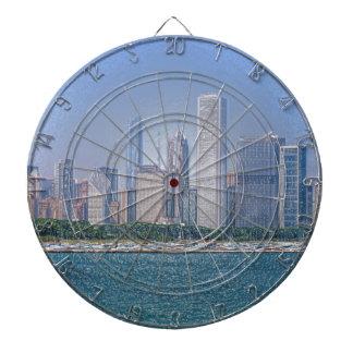 Chicago-Skyline Dartscheibe