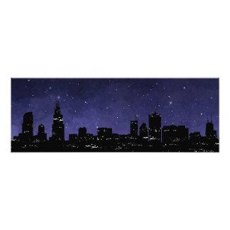 Chicago-Skyline Fotodruck