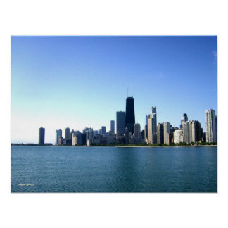 Chicago-Skyline-Fotografie Poster