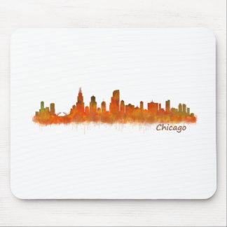 chicago skyline im Watercolor Cityscape Mousepad