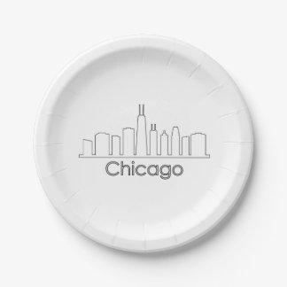 Chicago-Skyline Pappteller