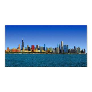 Chicago-Skyline Photokartenvorlagen