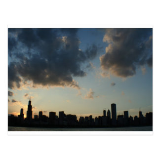 Chicago-Skyline Postkarte