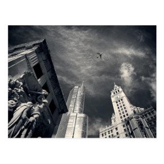 Chicago-Skyline Postkarte