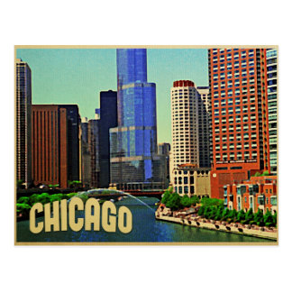 Chicago-Skyline Postkarten