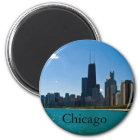 Chicago-Skyline Runder Magnet 5,1 Cm