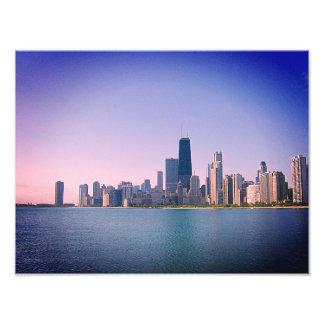 Chicago-Skyline-Sangria-Filter Fotodruck