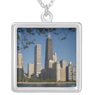 Chicago-Skyline und Michigansee, See-Ufer Versilberte Kette