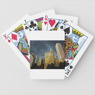 Chicago-Skyline vor einem Sturm Bicycle Spielkarten