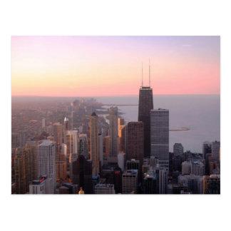 Chicago-Sonnenuntergang Postkarte