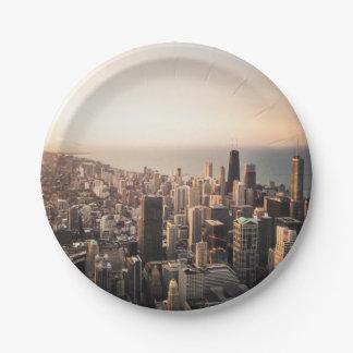 Chicago-Stadtbild Pappteller