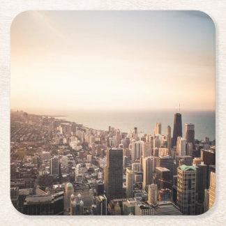 Chicago-Stadtbild Rechteckiger Pappuntersetzer