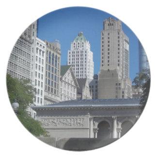 Chicago-Stadtbild Teller