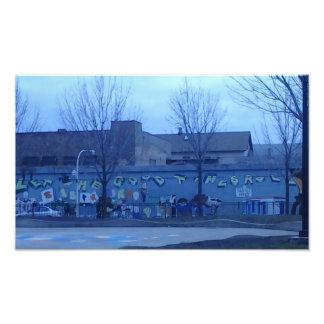 Chicago-Straßen-Kunst ließ die gute Zeit-Rolle Fotodruck