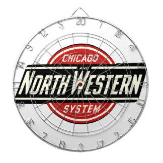 Chicago u. nordwestliches Eisenbahn-Logo 1 Dartscheibe