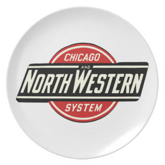 Chicago u. nordwestliches Eisenbahn-Logo 1 Melaminteller
