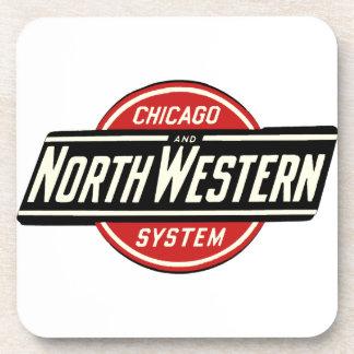 Chicago u. nordwestliches Eisenbahn-Logo 1 Untersetzer