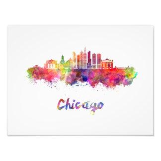 Chicago V2 skyline im Watercolor Fotodruck