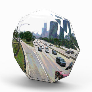 Chicago-Verkehr im Sandstein Acryl Auszeichnung